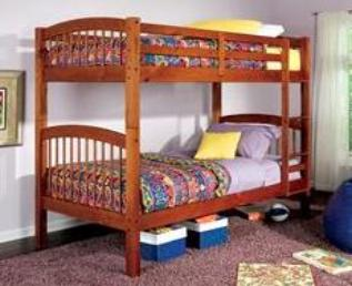 This is one of our more affordable bunk beds, and they separate when kids get older.
